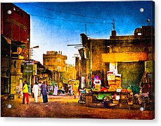 Streets Of An Egyptian Village Acrylic Print by Mark E Tisdale