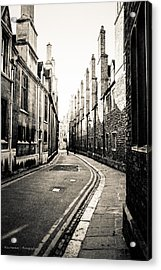 Streets Of Cambridge - For Eugene Atget Acrylic Print