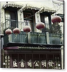 Streets Of Chinatown Acrylic Print by Larry Butterworth