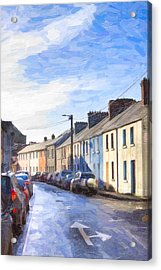 Streets Of Galway On A Winter Morn Acrylic Print by Mark E Tisdale