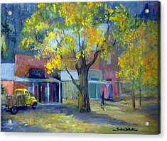 Streets Of Genoa Acrylic Print by Judie White