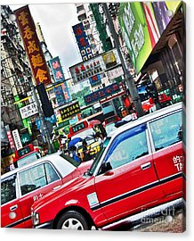 Acrylic Print featuring the photograph Streets Of Hong Kong by Sarah Mullin
