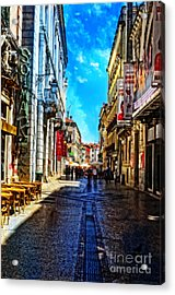 Streets Of Lisbon 1 Acrylic Print by Mary Machare