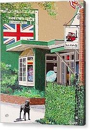 Streets Of London Pub Acrylic Print by Paul Guyer