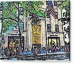 Streets Of Nyc 7 Acrylic Print by Mario Perez