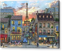 Streets Of Paris Acrylic Print by Dominic Davison