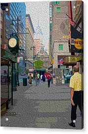 Streets Of Philadelphia Acrylic Print by Garland Johnson