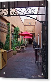 Acrylic Print featuring the photograph Streets Of Santa Fe by Sylvia Thornton