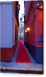 Streets Of Seville - Red Carpet  Acrylic Print by Andrea Mazzocchetti