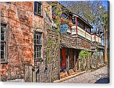 Acrylic Print featuring the photograph Streets Of St Augustine Florida by Olga Hamilton