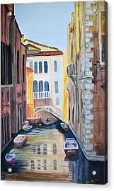 Streets Of Venice Acrylic Print by Debbie Baker