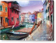 Streets Of Venice Acrylic Print