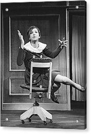 Streisand Broadway Debut Acrylic Print by Underwood Archives