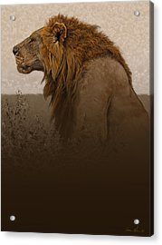 Strength Acrylic Print by Aaron Blaise
