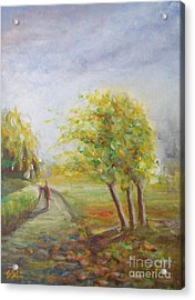 Acrylic Print featuring the painting Strength by Jane  See