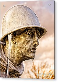 Stress Of Korean War Acrylic Print by Christopher Holmes