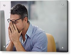 Stressful Day At The Office Acrylic Print by PeopleImages