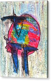 Strict Hope Acrylic Print by Yuri Lushnichenko