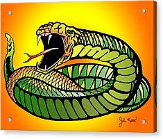 Striking Snake Acrylic Print by John Keaton