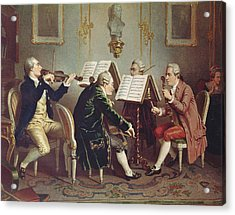 String Quartet Colour Litho Acrylic Print by Austrian School