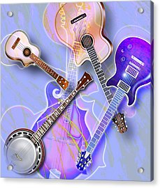 Stringed Instruments Acrylic Print by Design Pics Eye Traveller