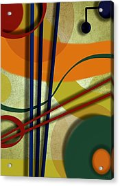 Abstract Strings Acrylic Print by Ron Grafe