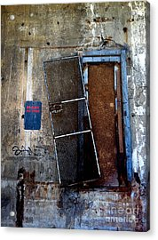 Strip District Doorway Number Three Acrylic Print by Amy Cicconi