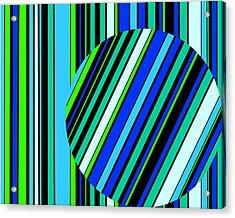Striped Circle  C2014 Acrylic Print