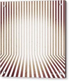 Striped Retro Wallpaper. Interior Background Acrylic Print by Jorgo Photography - Wall Art Gallery