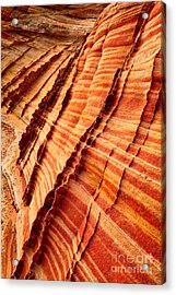 Striped Sandstone Acrylic Print by Inge Johnsson