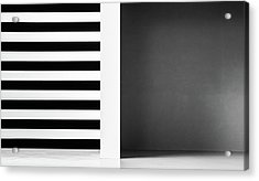 Stripes And Shadows Acrylic Print by Inge Schuster
