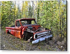 Acrylic Print featuring the photograph Stripped Chevy by Cathy Mahnke