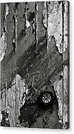 Stripping Hull Of An Old Abandoned Ship Acrylic Print