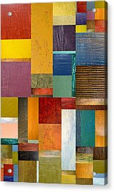 Acrylic Print featuring the painting Strips And Pieces Ll by Michelle Calkins