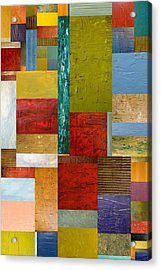Strips And Pieces Lll Acrylic Print by Michelle Calkins