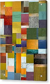 Strips And Pieces V Acrylic Print by Michelle Calkins