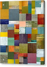 Strips And Pieces Vl Acrylic Print by Michelle Calkins