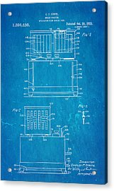 Strite Bread Toaster Patent Art 1921 Blueprint  Acrylic Print