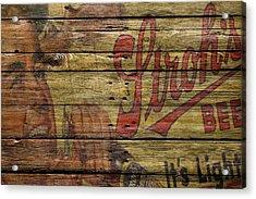 Strohs Beer Acrylic Print by Joe Hamilton