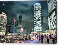 Stroll At Mid-level Shanghai Acrylic Print by Andy Brandl
