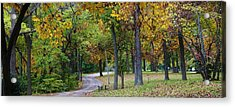 Stroll Through The Park Acrylic Print by Bruce Bley