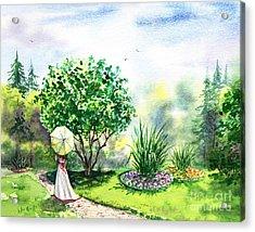Strolling In The Garden Acrylic Print