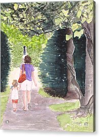 Strolling With Mom Acrylic Print