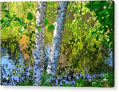 Strolling With Renoir Acrylic Print by Lauren Leigh Hunter Fine Art Photography