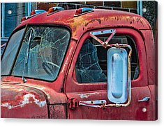 Acrylic Print featuring the photograph Strong City Red by Steven Bateson