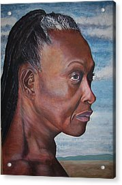 Strong Woman Acrylic Print by Linda Vaughon