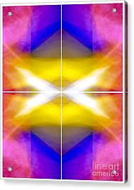 Structural Elements - Polytych  Acrylic Print by Douglas Taylor