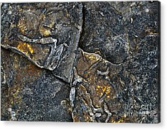 Structural Stone Surface Acrylic Print by Heiko Koehrer-Wagner