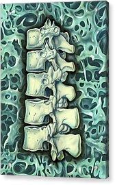 Structure Of Bone Acrylic Print by John Bavosi