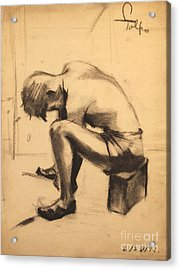 Struggling With The Job - 1941 Acrylic Print